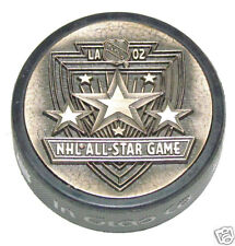 2002 NHL ALL-STAR GAME 3D METAL BRONZE PUCK Rare! Los Angeles Kings Logo 3-D