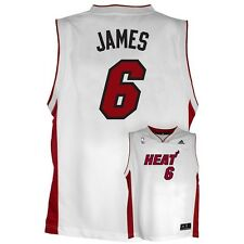 ($50) Miami Heat LeBRON JAMES nba ADIDAS Jersey YOUTH KIDS BOYS (XL)