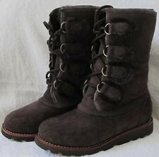 UGG Rommy Boots NEW In Box Womens Size 5 Chocolate Dark Brown Cuff Up / Down