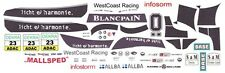 #23 BMW Z4 GT3 WestCoast Racing 2012 1/32nd Scale Slot Car WATERSLIDE DECALS
