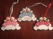 Personalized Baby Boy / Girl Twins Christmas Ornament