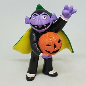 Vtg The Count Halloween Jack-o-Lantern PVC Figure Sesame Street Applause Pumpkin