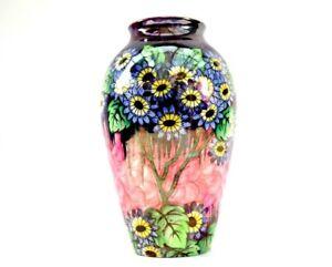 Maling Pottery Vase Daisy Pattern High Lustre Circa 1930