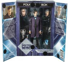 """Time Of The DoctorWho 11th Young Old 12th Dr Handles Cyberman 5"""" Figure Set"""
