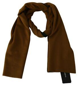 DOLCE & GABBANA Scarf Yellow Green Wool Wrap Shawl Mens 30cm x 180cm