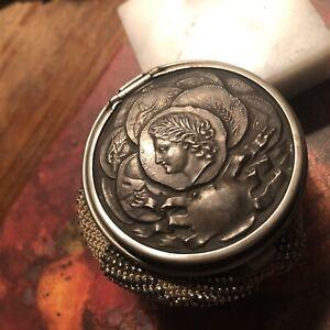 Victorian Beaded Purse 800 Silver Frame Mesh Coin Pouch R Hallmark