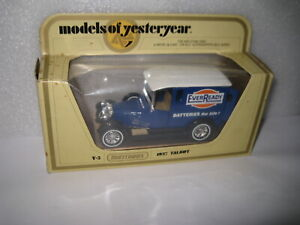 MATCHBOX YESTERYEAR Y-5 1927 TALBOT VAN  EVER READY BATTERIES    OLD SHOP STOCK
