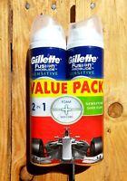 2 Gillette Fusion Men's Sensitive Shaving Shave Gel VALUE PACK Ocean Breeze 245g