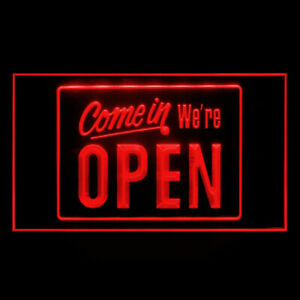 120001 Come In We're Open Cafe Sushi Restaurant Display Neon Sign