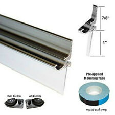 "Chrome Framed Shower Door Sweep Seal Vinyl 32"" Long Replacement Drip Rail Glass"