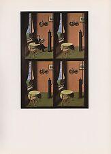"""1972 Vintage MAGRITTE """"L'HOMME AU JOURNAL - NOW, YOU DON'T"""" COLOR Art Lithograph"""