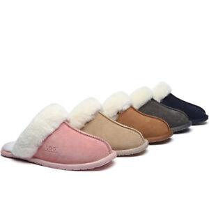 【EXTRA20%OFF】UGG Slippers Unisex Rosa Home Slippers Australian Sheepskin Wool