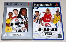 2 PLAYSTATION 2 giochi Bundle-FIFA 2003 & FIFA 2004-CALCIO SOCCER ps2