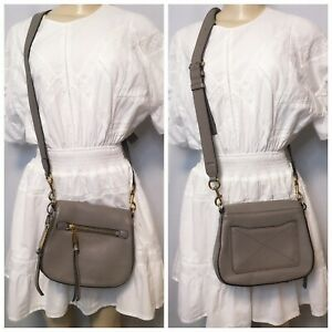 $400 Marc Jacobs 100% Cow Leather Crossbody Taupe Bag Pre-Loved Condition