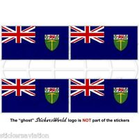 RHODESIA Southern Rhodesian Flag 1923-1964 50mm Bumper-Helmet Stickers Decals x4
