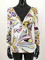 Emilio Pucci Firenze Shirt Top Blouse Size S