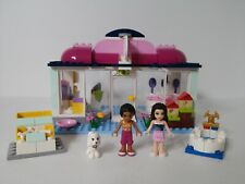 Lego Friends Heartlake Pet Salon 41007 100% complete with 2 minifigs and dog