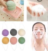 Konjac Konnyaku Fiber Face Makeup Wash Pad Cleaning Sponge Puff Exfoliator
