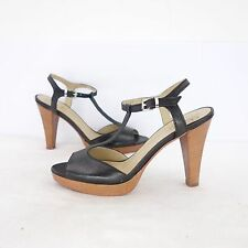 ROSSANO BISCONTI femmes Sandalettes chaussures 37 Noir Cuir T String NP 165 NEUF