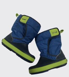 Crocs Boots Crocband lodgepoint Snow Boot C11 Blue & Green Boots Kids Toddler