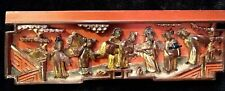 Antique Chinese Carved Wood Panel Gold Gilt People Temple China Old