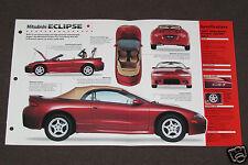 1989-1998 MITSUBISHI ECLIPSE (1997 SPYDER GS-T) Car SHEET BROCHURE PHOTO BOOKLET