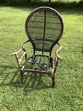 VINTAGE VICTORIAN WICKER/RATTAN STEAM BENT CHAIR