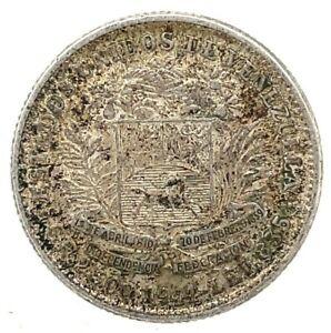 Venezuela 1944 50 Centimos  0.835 Silver Coin Y#21a