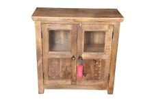 Handmade Antique Style Wooden Cabinet Storage Sideboard Buffets With Glass Door