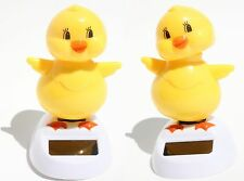 Set of 2 Adorable ~ Who is that Chick Dancing Yellow Chick Solar Toy Easter Gift