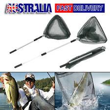 Fishing Landing Net Fish Telescopic Foldable Folding Aluminium Pole AU