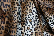 """Brown Leopard Velboa upholstery Fabric per yard 60"""" wide"""