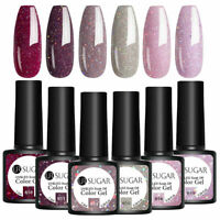 UR SUGAR 6 Bottles Nail Gel Polish Set Glitter UV LED Soak Off Gel Varnish 7.5ml
