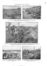 WWI Bataille de la Somme Belloy & Estrées Boyau Feldgrauen Canons B ILLUSTRATION