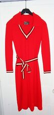 Women's Crissa Linea Italiana Vintage 70's Italy Red Sweater Dress Sz S/M
