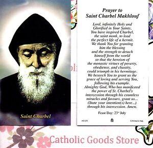 St. Charbel Makhlouf - Prayer to Saint Charbel Makhlouf  - Paperstock Holy Card