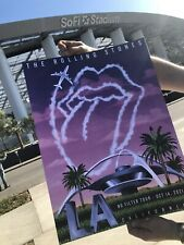 ROLLING  STONES NO FILTER LOS ANGELES POSTER LITHO SOFI LA ONLY 500 MADE SOLDOUT