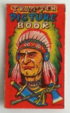 1950's Transfer Picture Book (Child Tattoos) Indian Chief Cover Cowboy Japan