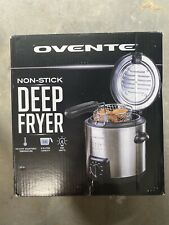 Ovente Fdm1091Br Mini Deep Fryer with Removable Basket - Silver