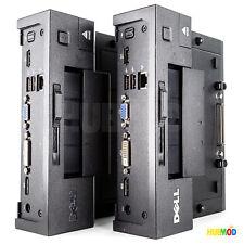 2X DELL Latitude E-Port Replicator Docking Station E6400 E6410 E6420 E6430 E5400