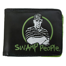 Authentic SWAMP PEOPLE Logo Troy Face Bifold Wallet Official NEW