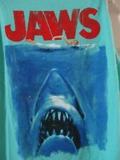 New Jaws Shark Movie Poster Soft Athletic Beach Tank Tee Shirt Men's Large Nwt