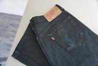 Levis Levi's 501 Herren Jeans Hose 36/32 W36 L32 stonwashed schwarz black ab35