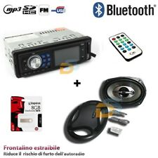 KIT AUTORADIO STEREO BLUETOOTH USB AUX + COPPIA CASSE 1000 WATT + PEN DRIVE 8GB