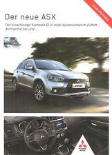 Prospekt / Brochure Mitsubishi ASX 08/2016 Flyer
