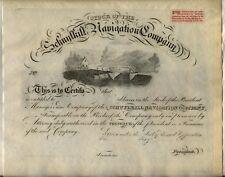 Schuylkill Navigation Company Stock Certificate Pennsylvania
