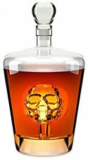 Quirky Unusual Skull Decanter Whisky Glass Crystal Whiskey Bottle Vintage Gift