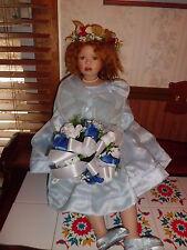 "Christine Orange 30"" tall Charlotte porcelain doll"