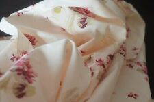 Antique 19th Century Floral COTTON YARDAGE AFRICAN VIOLETS UU948