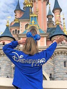 Jersey Spirit Blue Bleu Disneyland Paris Wishes Come True Taille XL Disney